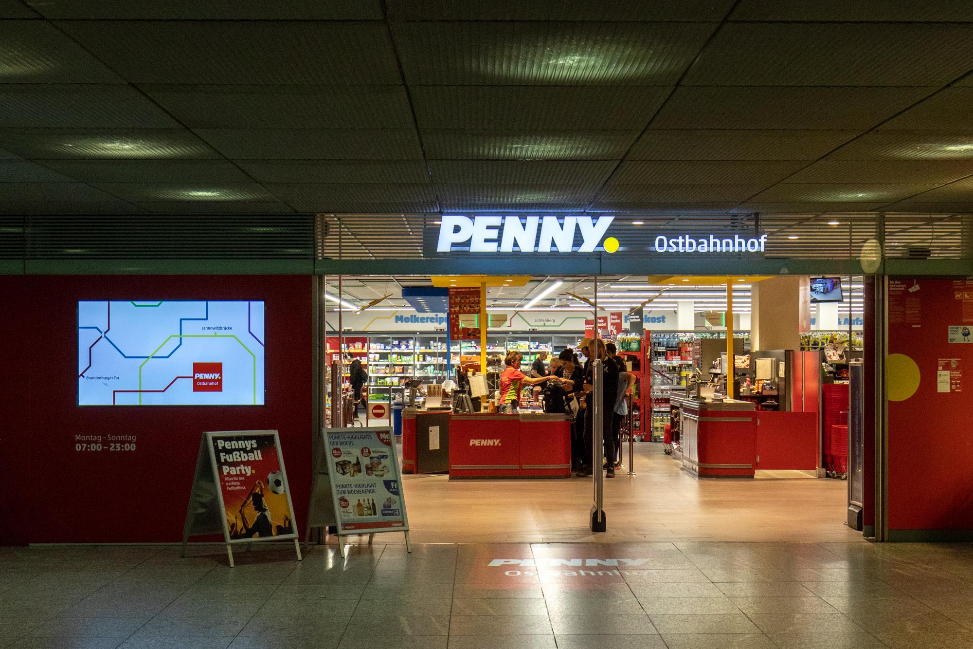 Penny Ostbahnhof - einer der sonntags geöffneten Supermärkte in Berlin