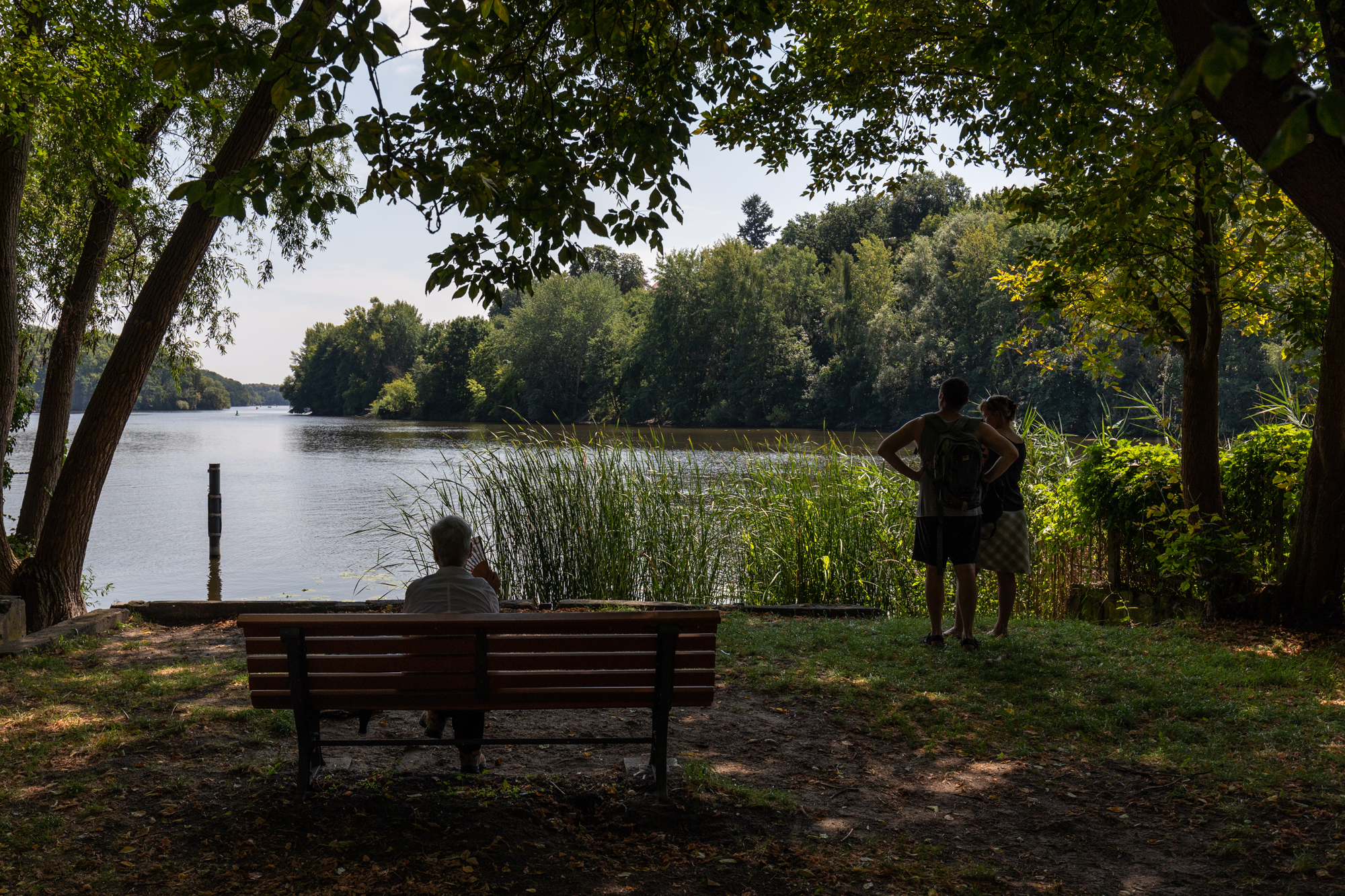 Griebnitzsee from Klein Glienicke - a former East German enclave separated from West Berlin by the Berlin Wall and only accessible with special permission
