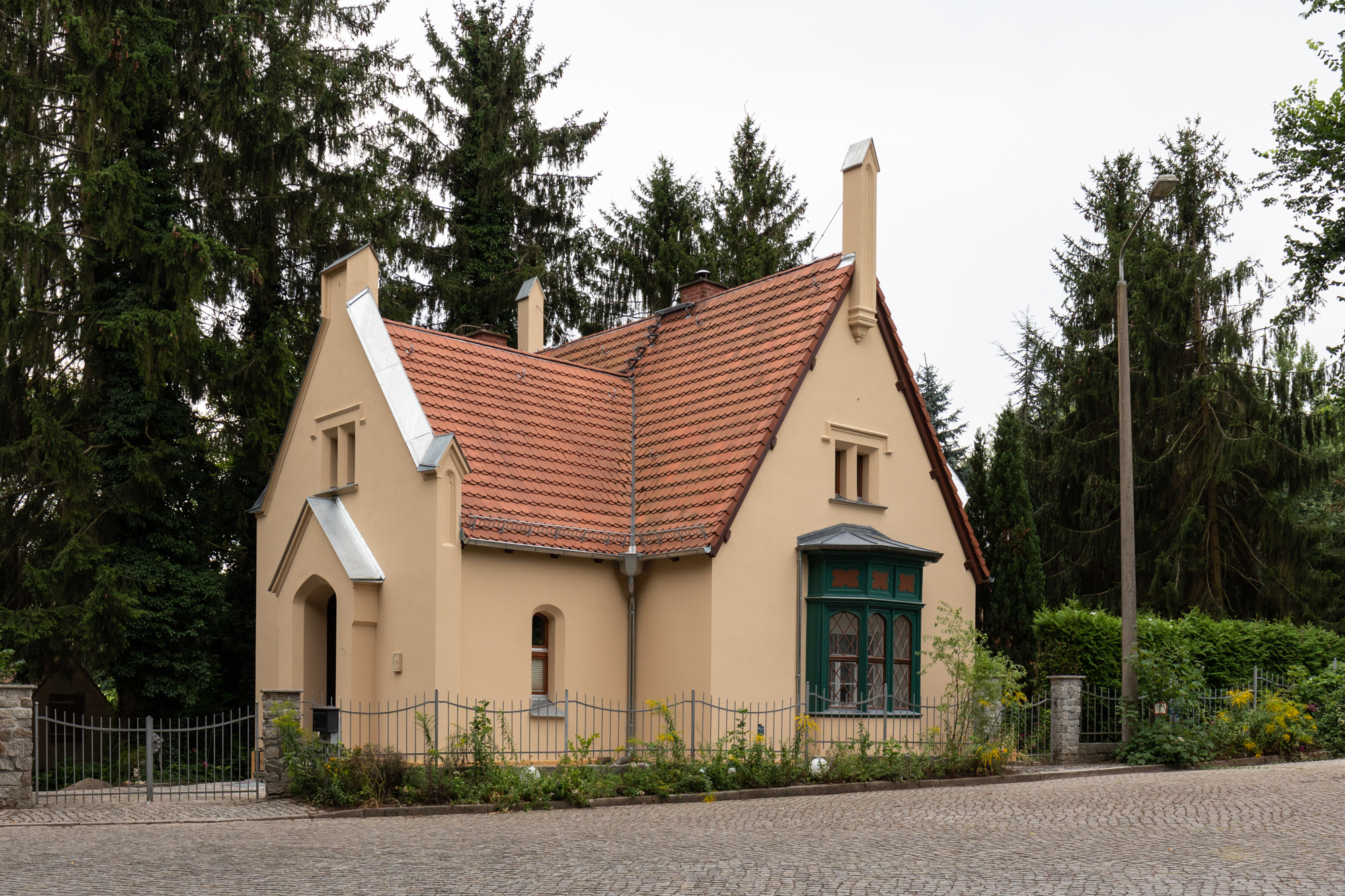 House in Klein Glienicke - a former East German enclave separated from West Berlin by the Berlin Wall and only accessible with special permission