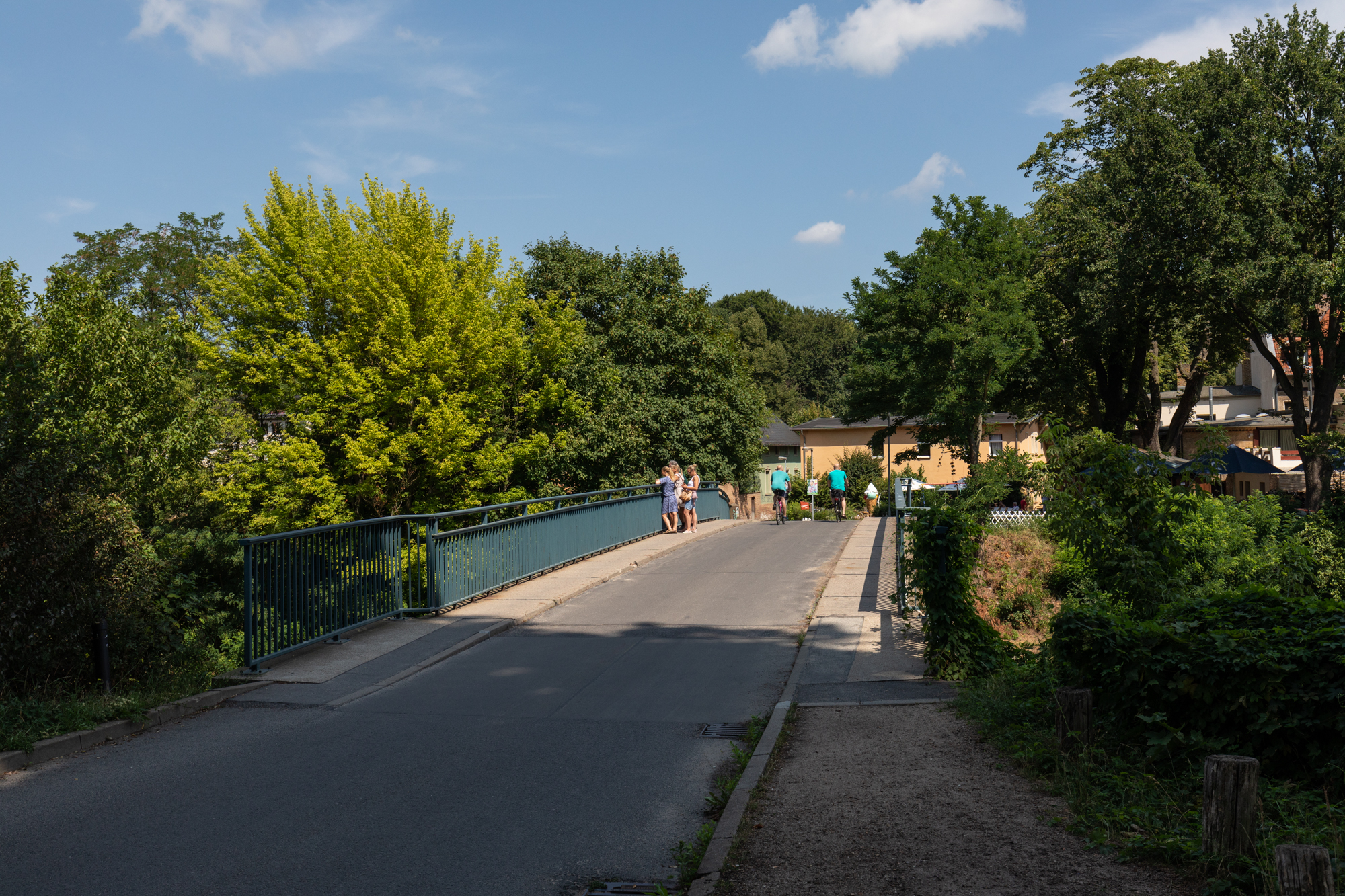 Bridge between Park Babelsberg and Klein Glienicke - a former East German enclave separated from West Berlin by the Berlin Wall and only accessible with special permission