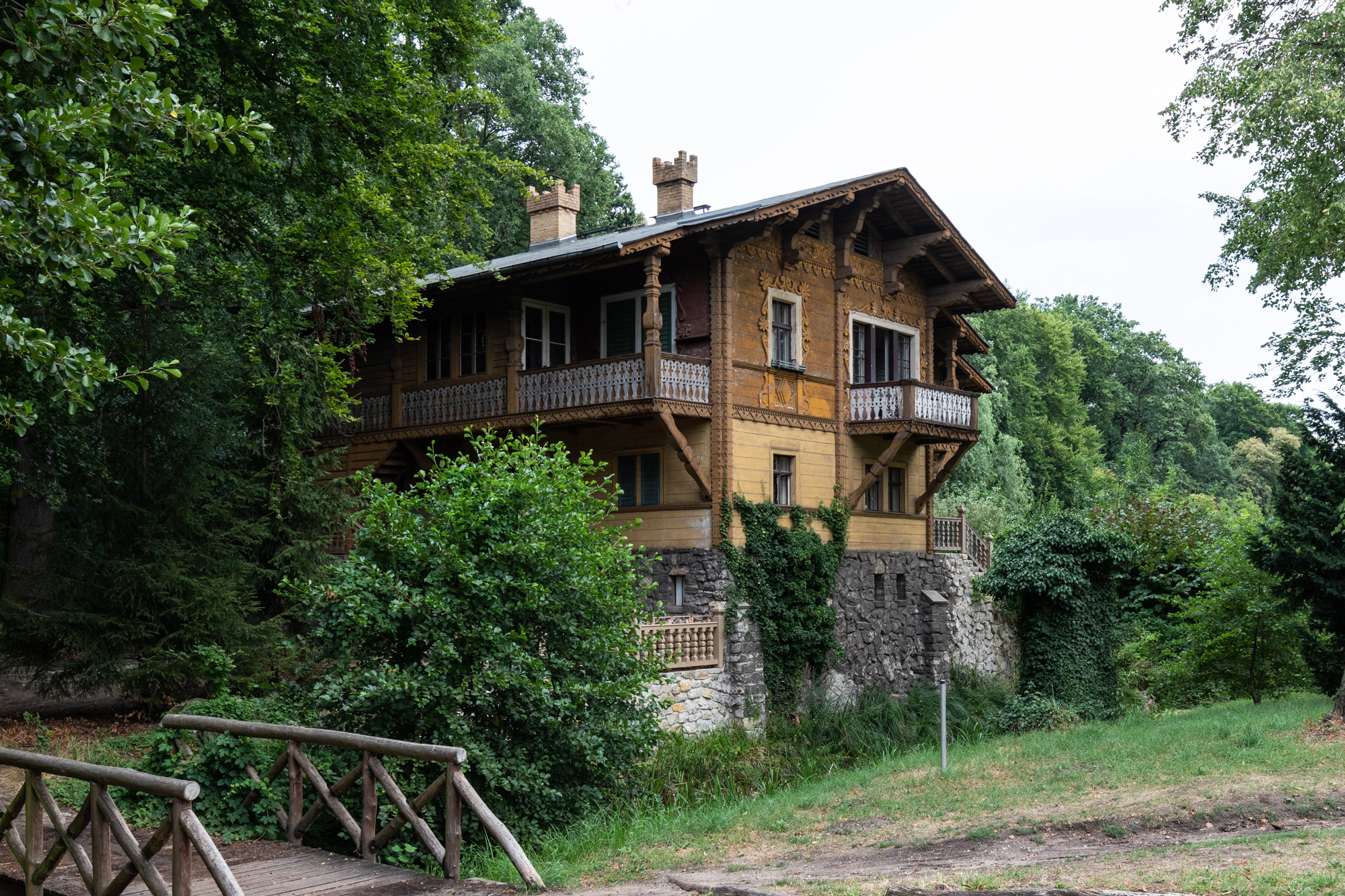 Swiss House in Klein Glienicke - a former East German enclave separated from West Berlin by the Berlin Wall and only accessible with special permission