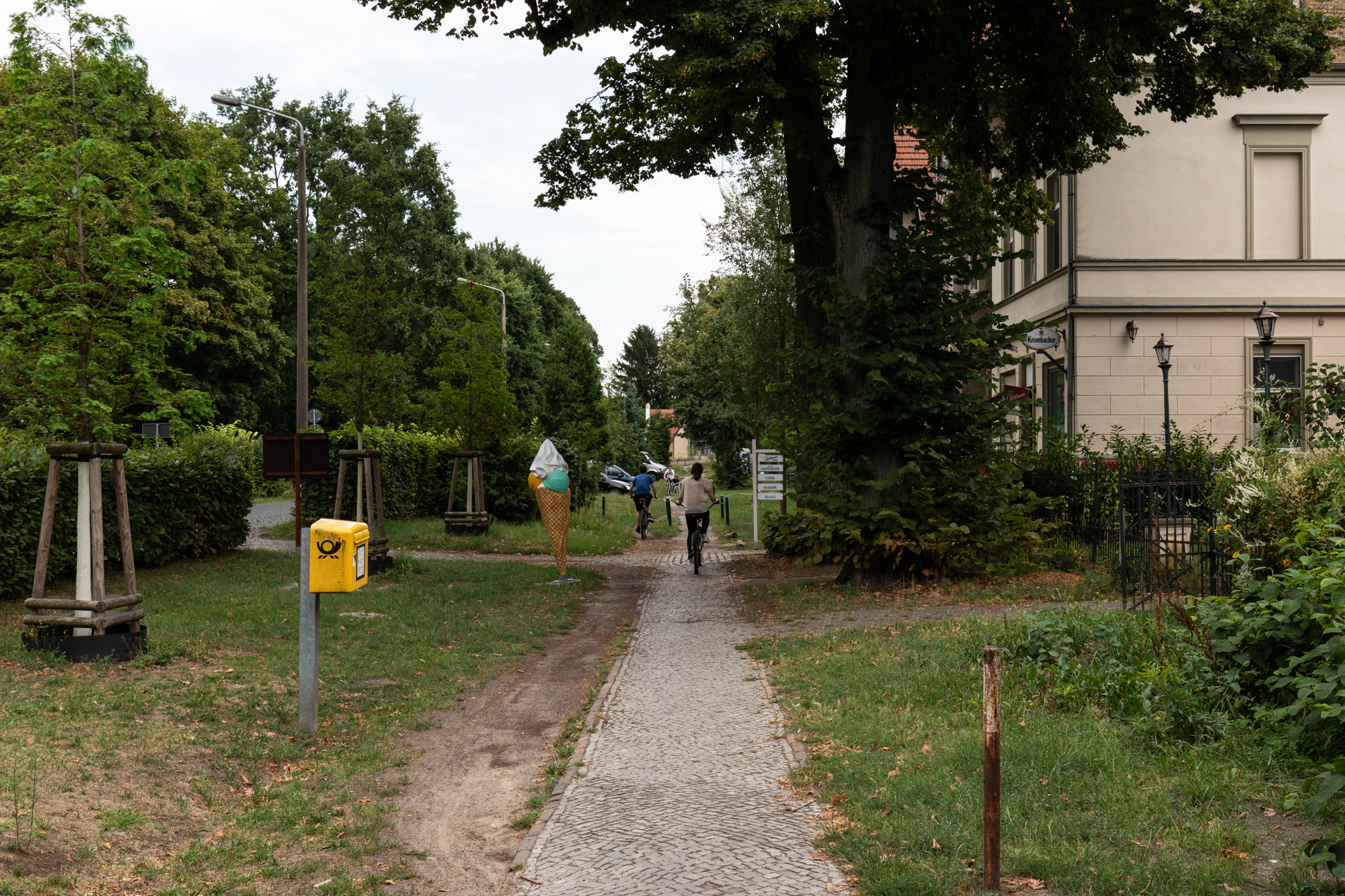 Waldmüllerstrasse in Klein Glienicke - a former East German enclave separated from West Berlin by the Berlin Wall and only accessible with special permission